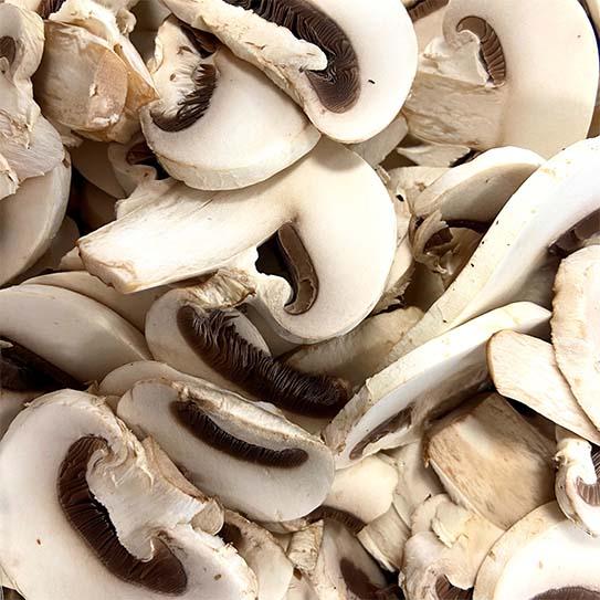 Champignons gesneden - Boekel AGF Horecagroothandel