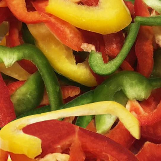 Paprika reepjes gesneden - Boekel AGF Horecagroothandel